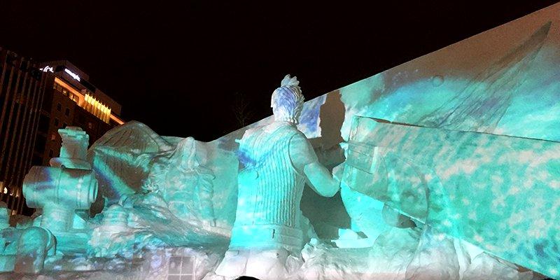 FF7の雪像