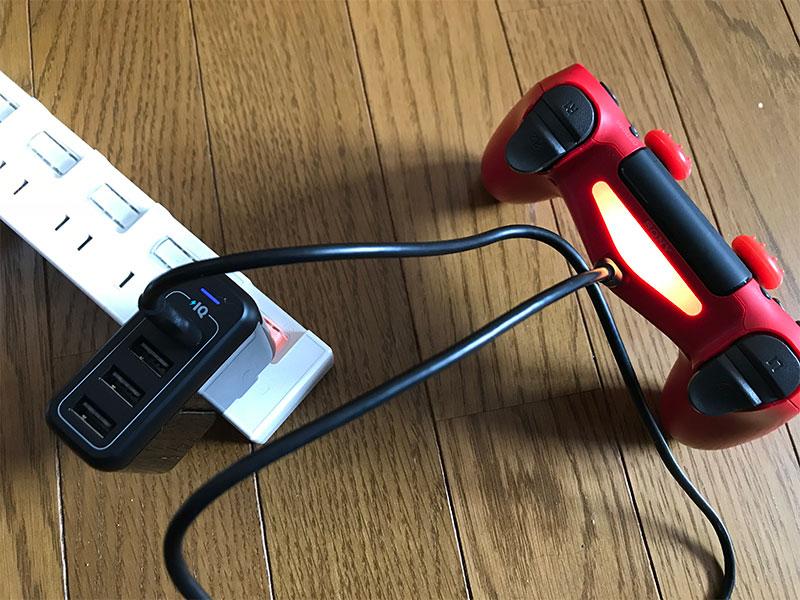 コントローラーの充電
